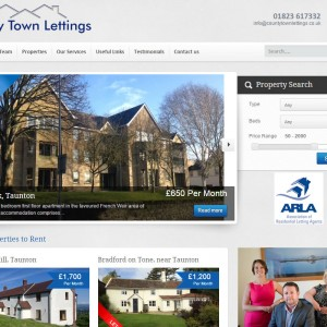 WordPress Design and Development for County Town Lettings based in Taunton, Somerset