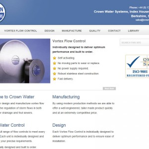 HTML and CSS Design and Development for Crown Water based in Ascot, Berkshire.