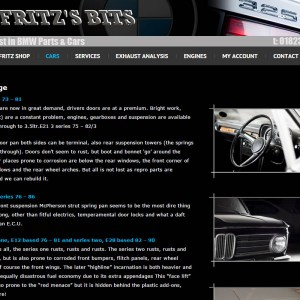 WordPress with Ecommerce Development for Fritz's Bits based near Wellington, Somerset.