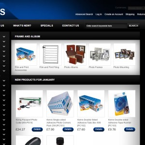 Oscommerce Deisgn and Development for Hawks Photo Video based in Taunton, Somerset.