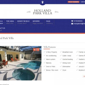 WordPress Design and Development for Holland Park Villa based in Orlando