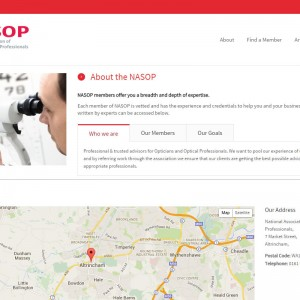 WordPress Design and Development for NASOP based in Altrincham.