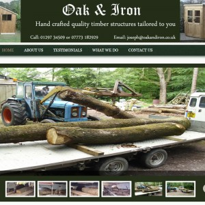 WordPress Design and Development for Oak and Iron based in Axminster, Devon.