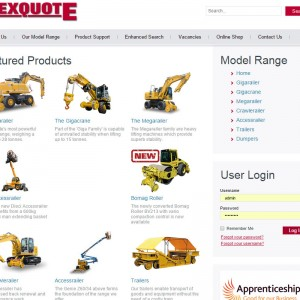 Joomla Design and Development for Rexquote based in Taunton, Somerset.